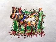 Projekt: Dog in Color Kunde: Privat Umfang: Illu Farbstifte _ 105 x 105 mm